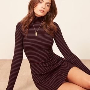 Reformation Striped Mini Dress